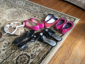 Variety of girl's shoes