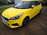 New MG 3 EXCLUSIVE NAV VTI-TECH 5 Door petrol manual. 28 miles. 6 yr warranty.