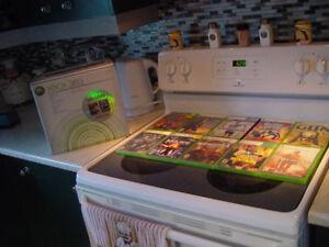 x box 360 avec 2 manettes 10 jeux avec fillage en rca MERCI St-é