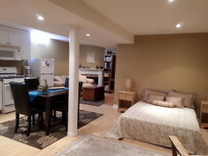 Spacious, neat, furnished basement apartment for rent