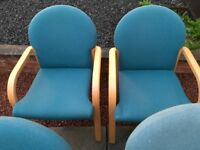 Office reception chairs.