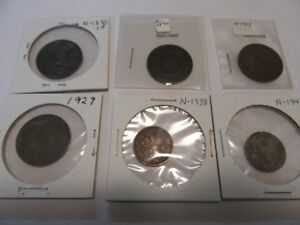 NEWFOUNDLAND THIRTY-ONE (31) COINS 1-5-10-20-25-50 CENT SEE TEXT