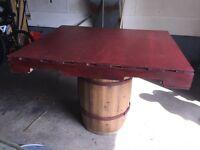 Wine Barrel pub table