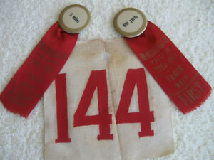3-PC. SET of COLLECTIBLES..MacDONALD COLLEGE TRACK MEET ['44-'45