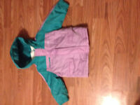 Size 12-18 month old teal and purple coat from old navy