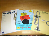 Trumpet fingering guide and music book