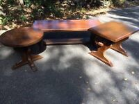 Rustic chalet style set of coffee tables