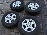 """LANDROVER DISCOVERY TD5 16"""" ALLOY WHEELS WITH PIRELLI SCORPIONS"""