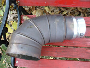 """Stainless Steel Elbow Adapter Wood Stove Pipe 7"""" to 5 1/2"""""""