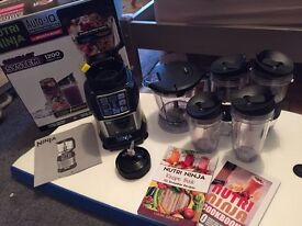 Boxed Nutri Ninja incl. food processor, extra accessories and books (BL490UK)