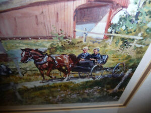 """Peter Etril Snyder """"Cattle By The Covered Bridge"""" Signed/Numbere Stratford Kitchener Area image 3"""