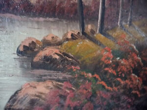 New England Fantasy Oil Painting by Joseph Collazzi 1930's Stratford Kitchener Area image 7
