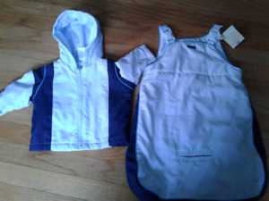 Baby Boy Fall/Winter Jacket and Bag- 0-6 months