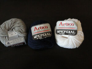 Lot of 14 rolls of italian wool yarn knitting supplies assorted London Ontario image 9