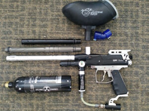 Paintball Gun with 3 barrels (Spyder Rodeo) Good condition
