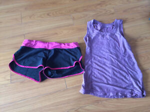 Lululemon shorts (size 10) and top (size 8) - Must Go!