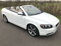 2009 VOLVO C70 2.0 D S CONVERTIBLE ICE WHITE **ONLY 44,000 MILES**