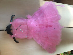 Girls - Pink Fancy Stonework Dress