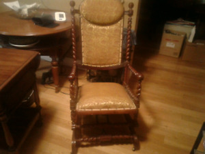 Absolutely stunning Rare Antique BARLEY TWIST Rocking Chair