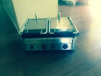 Brand new double griddle panini machine