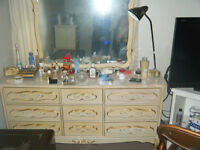 5 PIECE FRENCH COLONIAL BEDROOM SET