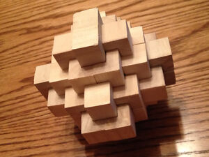 24 pc Hard Wood Large Burr Puzzle London Ontario image 1