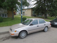 1995 Toyota Corolla with summer and winter tires $1200