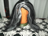 BLACK WITH WHITE HIGHLIGHTS WIG