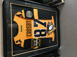 Framed limited edition Sidney Crosby jersey