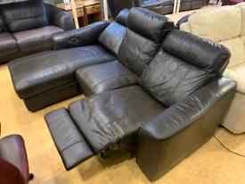FREE DELIVERY Dark brown electric recliner corner sofa DFS Cressida
