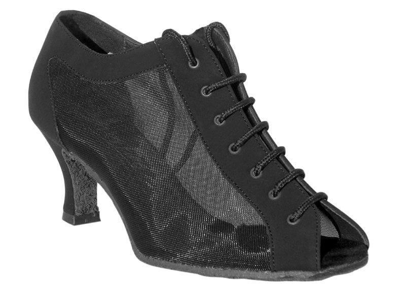 1643 Black Nubuck Swing Ballroom Salsa Mambo Latin Dance Shoes heel 2.5 Size 6.5