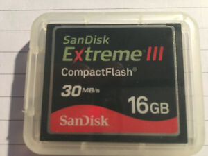 Memory- CompactFlash Extreme lll   16GB 30MB/s