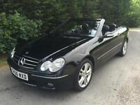 2006 MERCEDES CLK200 KOMPRESSOR AVANTGARDE 1.8 AUTOMATIC CONVERTIBLE