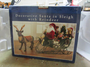 Decorative Santa in Sleigh with Reindeer Prince George British Columbia image 1