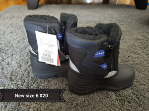 New Winter Boots Size 6 (Toddler)