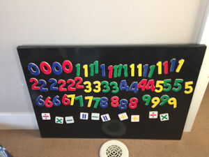 MELISSA &a Doug magnet numbers & Metal board included