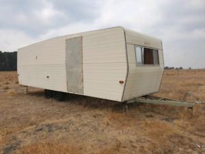 Caravan frame and shell.