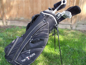 Wilson Mid-Size Graphite Golf Clubs and TopFlite Bag