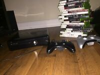 Xbox 360 slim 250gb + 2 controllers + bunch of games!