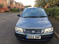 Hyundai matrix 1.6 2004 low millage only done 69000 miles warranted miles 1 year MOT