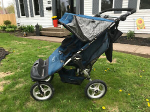Sturdy double jogger stroller