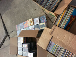 over 500 records albums tapes and cds