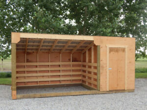 Horse Shelter with Tack Room
