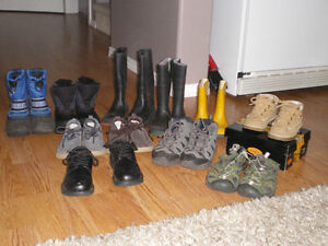 BOY'S VARIETY OF BOOTS AND SHOES Many sizes