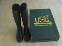 Horse Riding Boots Black - Size 4.5