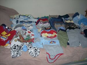 clothes lot 58 pieces 11 pjs 22 pants 13 onesies 2 outfits 6 top
