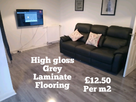 Laminate flooring, carpets and vinyl flooring supplied and fitted