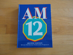 McGraw-Hill Ryerson Applied Mathematics 12  Hardcover textbook London Ontario image 1