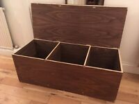 Chest storage trunk wooden box 1020x420x370mm