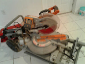 Double compound miter saw for sale, $500